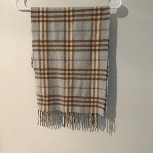 Burberry London cashmere light blue scarf